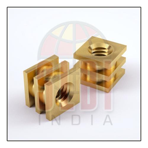 Square Molding Brass Inserts Nut