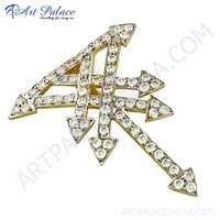 Vintage New Design CZ Gemstone Silver Pendant