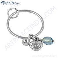 Wholesale Various Style Blue Cubic Zirconia Silver Pendant