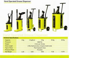 Grease Dispenser & Hand Grease Bucket