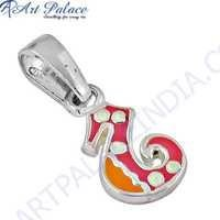 Fashionable Inley Gemstone Silver Pendant