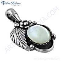 Antique Style Mother Of Pearl Silver Pendant
