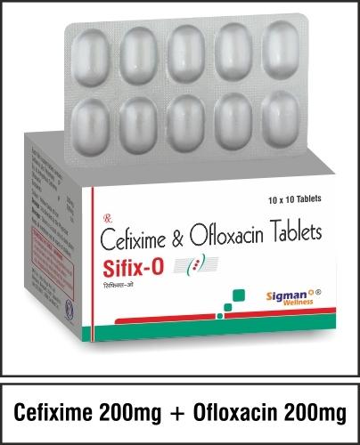 Cefixime  200 mg. + Ofloxacin 200mg