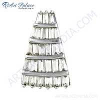 Unique Style Cubic Zirconia Gemstone Silver Pendant