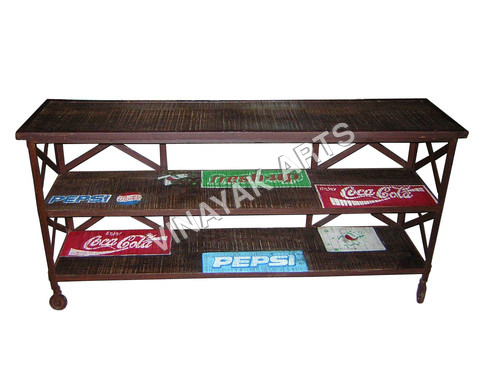 Industrial Console Table with Ptd Logo
