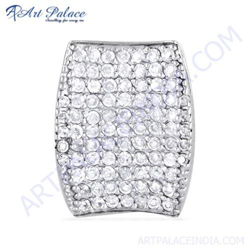 Fashionable Cubic Zirconia Gemstone Silver Pendant