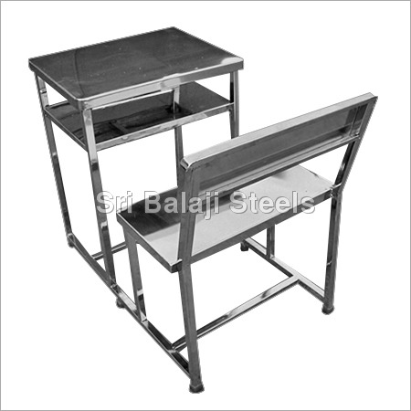 SS Single Desk Bench