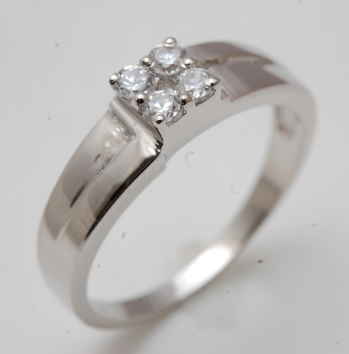 Anniversary gift silver ring for man