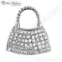 Fashion Accessories Cubic Zirconia Silver Pendant