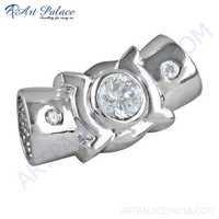 Antique Style Cubic Zirconia Silver Pendant