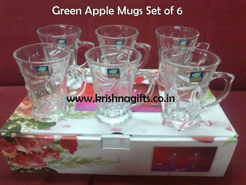 Green Apple Mug Set of 6