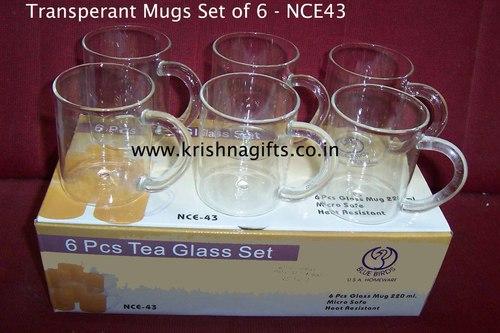 Transperant Mug 6 pc