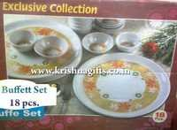 Melamine Buffet 18 pc