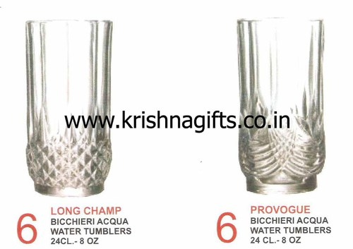Crystal Water Glass Set of 6 pcs