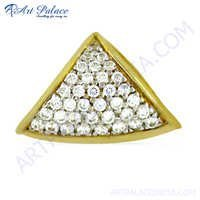 Valuable Cz Gemstone Gold Plated Silver Pendant