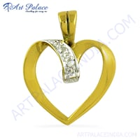 Heart Style Gold Plated Silver Pendant