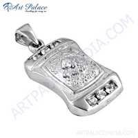 Newest Cubic Zirconia Gemstone Silver Pendant