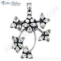 Wholesale Various Style Silver Pendant With Cubic Zirconia
