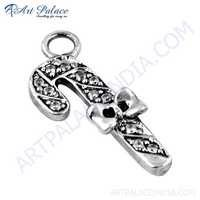Excellent New Fashionable Cubic Zirconia Silver Pendant