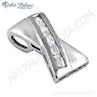 Silver Pendant, Cubic Zirconia Pendant