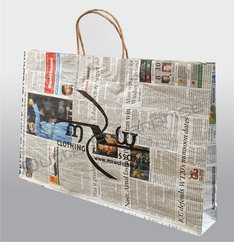 Crafted Newspaper Carry Bag