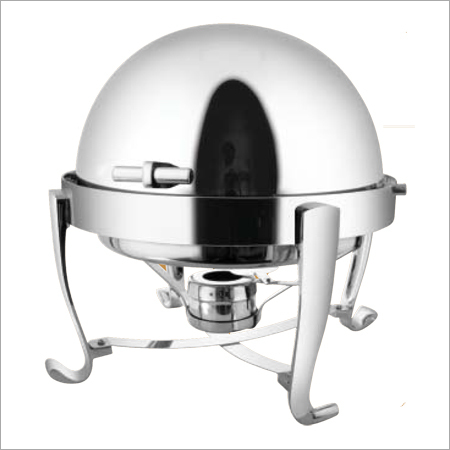 Round Roll Top Chafing Dish with Chrome Legs