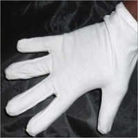 White Baniayan Hosiery Hand Gloves