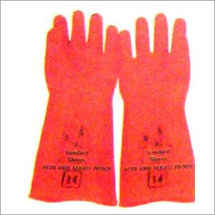 Rubber Orange Handgloves