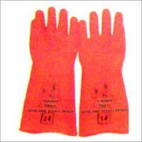 Rubber Orange Handgloves