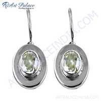 Gracious Fashion Cubic Zirconia Gemstone Silver Earrings