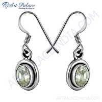 Wholesale Cubic Zirconia Gemstone Silver Hook Earrings