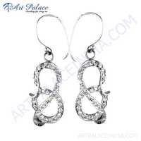 Ingenious Cubic Zirconia Cz Gemstone Silver Earrings