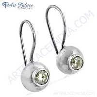 Fashion Accessories Cubic Zirconia Gemstone Silver Earrings