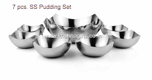 SS Pudding Set 7pc