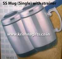 SS Mug with strainer