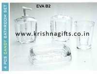 EVA Bath Set 4pc Acrylic