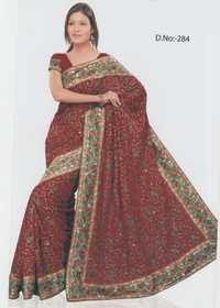 red wedding sarees