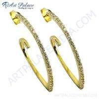 Wholesale Various Style CZ Gold Plated Silver Earrings