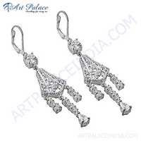 Truly Designer Cubic Zirconia Silver Earrings