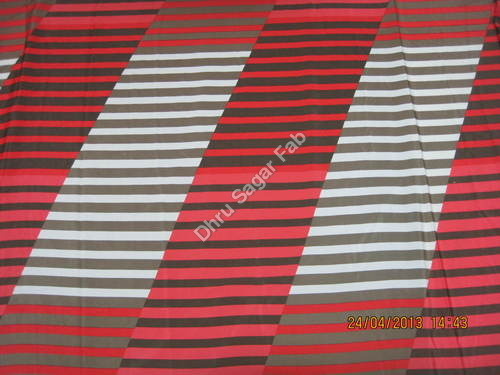 Poly Bright heavy crape Strip design