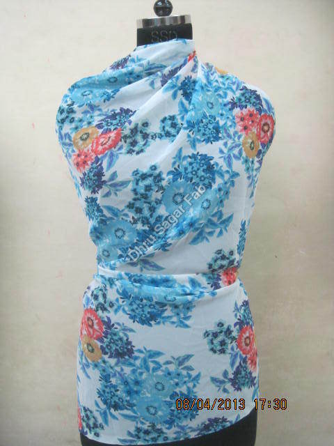 Polyester Heavy Georgette Print