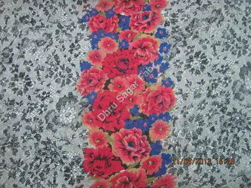 Flat Georgette Print