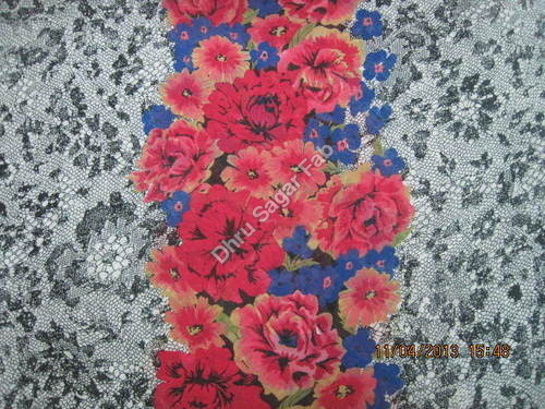 Poly. Flat Georgette Print