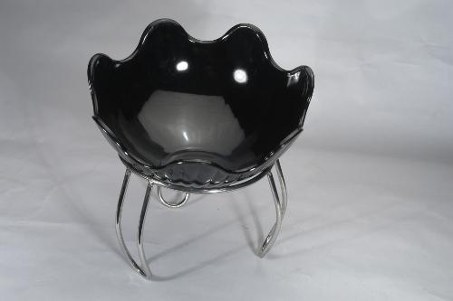 Black Flower Platter