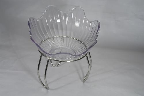 Glass Flower Serving Platter
