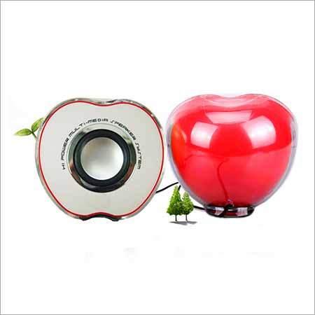 Apple Red Speakers