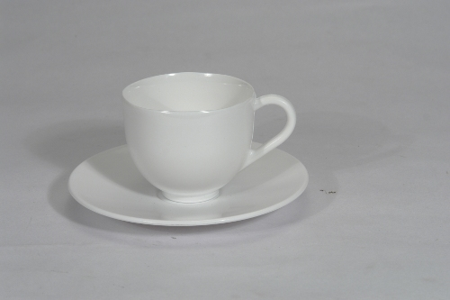 White Cup Saucer Set