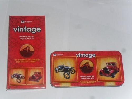 Vintage Mathematical Instruments Box