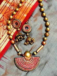Ethnic Terracotta necklace set