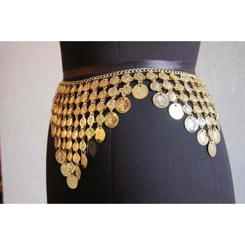 Belly Dance Metal Gold Coin Belt